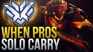 WHEN PROS SOLO CARRY #9 - Overwatch Montage