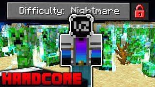 I Beat NIGHTMARE Difficulty in HARDCORE Minecraft!! (impossible difficulty)