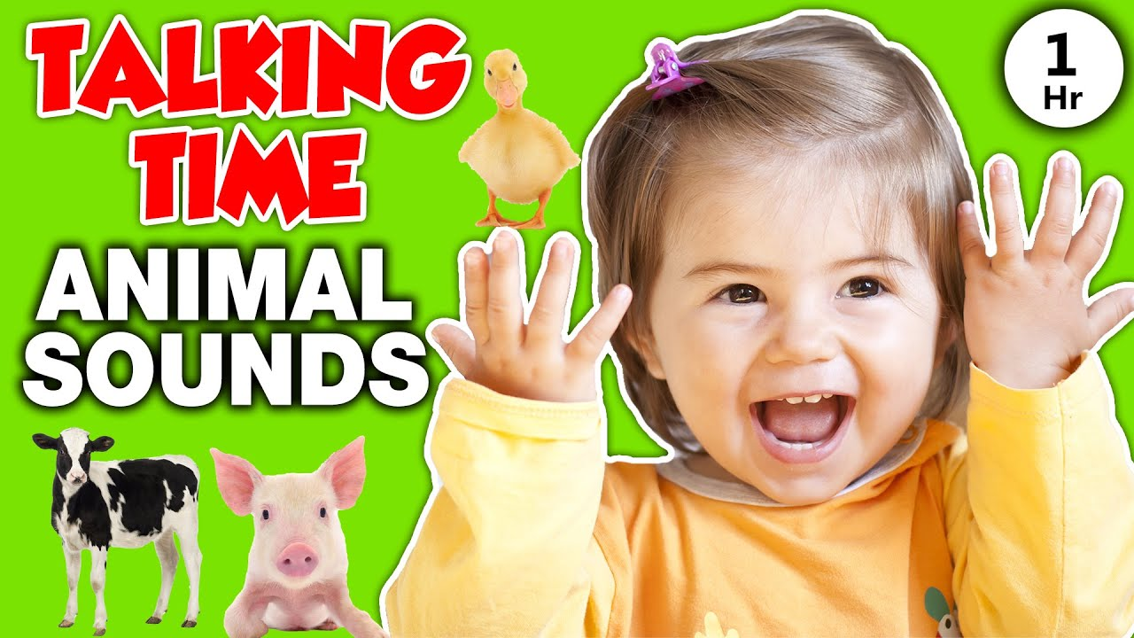 Animal Sounds for Toddlers and Babies - Talking Time on the Farm Video - Speech, Songs, Signs Song