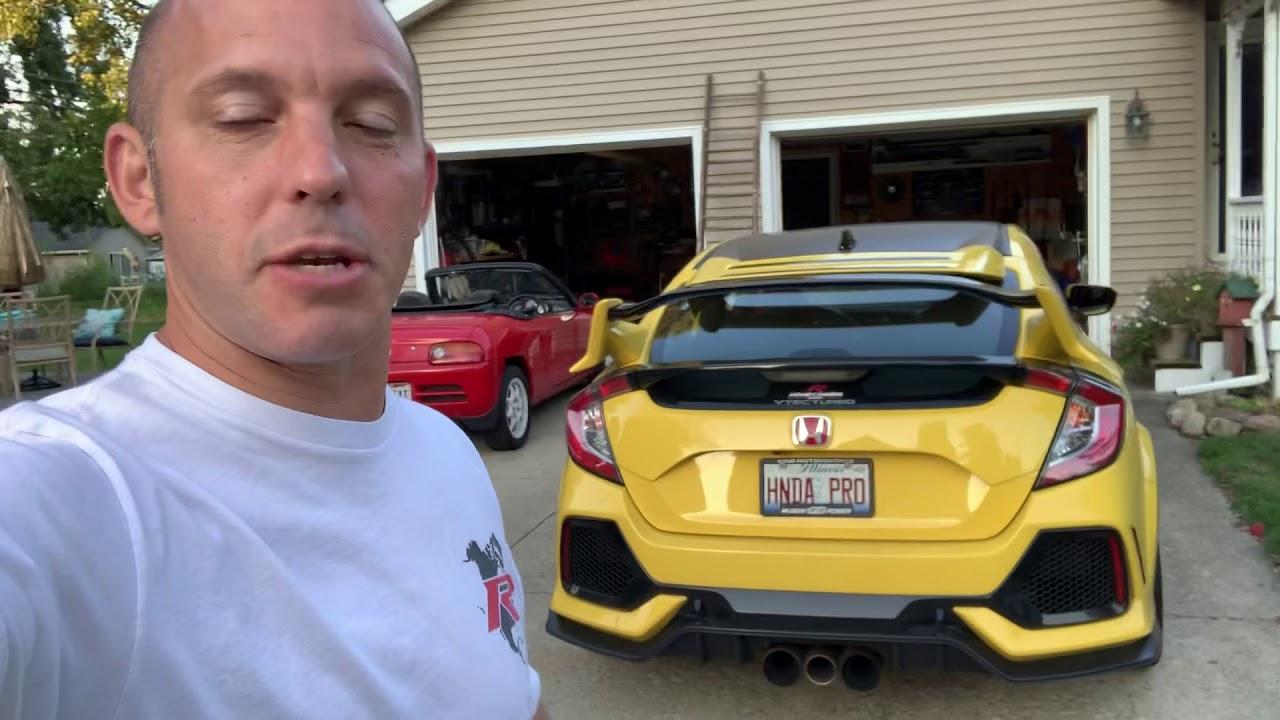 Leaving my Honda Civic Type R in Ohio - YouTube