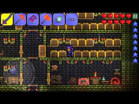 how to build a house in terraria ios