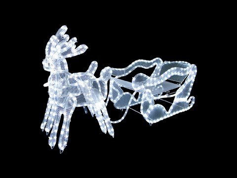 3d Led Rope Light Sleigh Reindeer The Christmas Warehouse Youtube