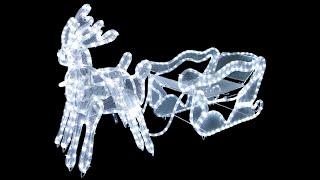 3d led rope light sleigh reindeer the christmas warehouse