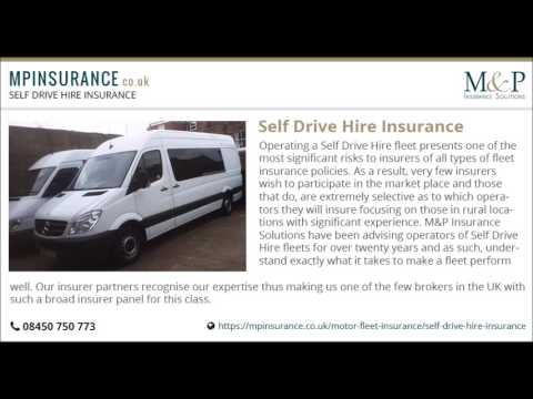Self Drive Hire fleet Insurance