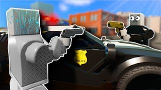 COPS AND ROBBERS IN THE FUTURE! - Brick Rigs Multiplayer Gameplay - Lego Police Chase