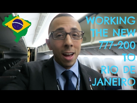 WORKING THE BRAND NEW 777-200 TO RIO DE JANEIRO