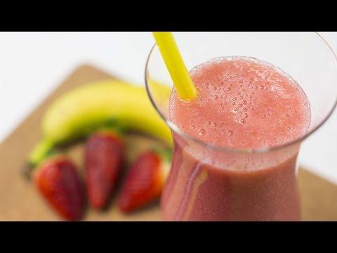 Как приготовить фруктовый коктейль из банана и клубники, который поможет контролировать тревожность