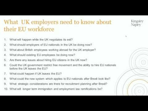 What Brexit means for EU employees living in the UK and their families