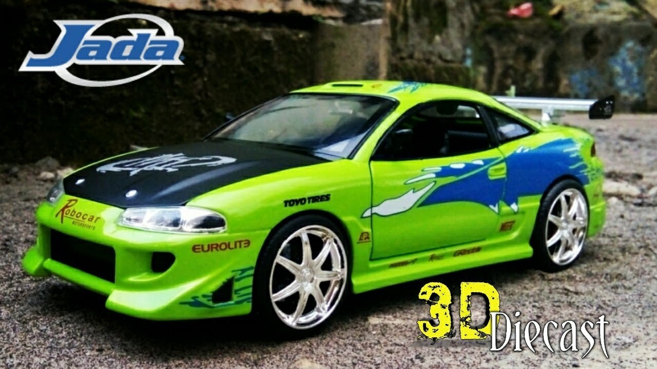 1995 Brian`s Mitshubishi Eclipse Fast and /& Furious grün 1:24 Jada