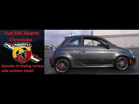 Fiat 500 Abarth Styling Review Walkaround Analysis Side Scorpion Emblem Install Template Episode 10