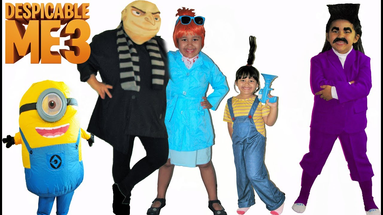Despicable Me 3 Halloween Costumes and Toys  sc 1 st  YouTube & Despicable Me 3 Halloween Costumes and Toys - YouTube