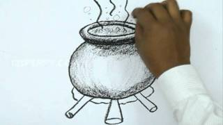 How to Draw a Halloween Pot