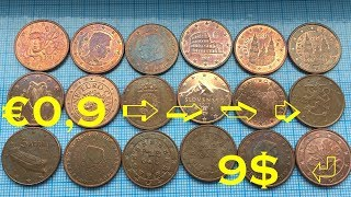 5 euro cent 18 COINS 👍  €0,9 ➪ ➫ ➬ ➭ 9$