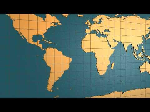 3D Folding Globe Animation