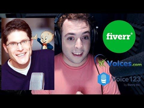 Bob Bergen, Fiverr.com, Voices.com and Voice123.com