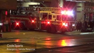 FDNY Engine 54 + Ladder 4 + Battalion 9 Full House Response