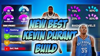 NBA 2K20 BEST OVERPOWERED KEVIN DURANT BUILD!!