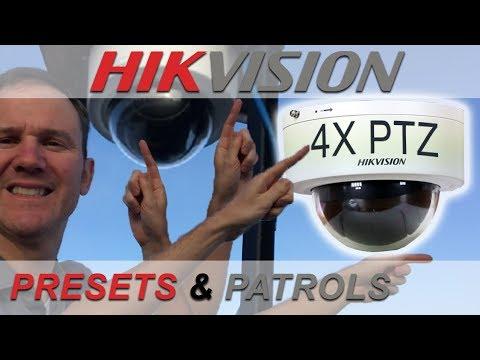 How to Setup Presets and Patrols – Hikvision Mini PTZ Dome - YouTube