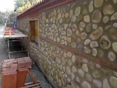 muro in ciottoli di fiume  YouTube