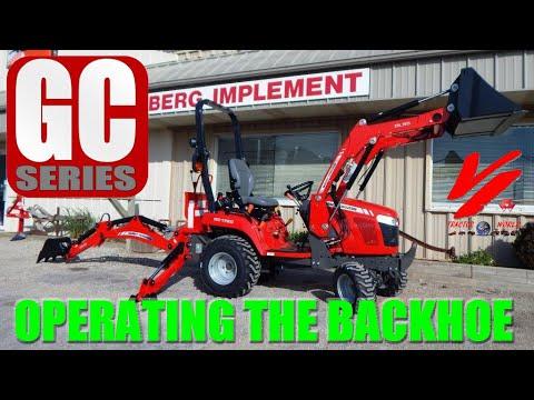 Massey Ferguson GC1720 TLB Sub Compact Tractor: Backhoe Operation