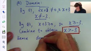 Domain and Range of a function. An Example:  Dr Chris Tisdell Live Stream