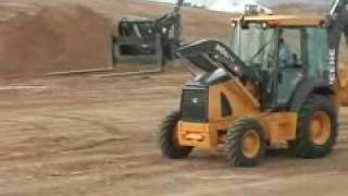 Video still for John Deere Hitachi Backhoe J-Series Demo ST07