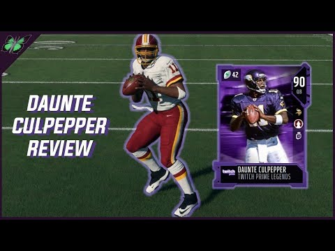 Twitch Prime Daunte Culpepper Review | Madden 18 Player Reviews✰