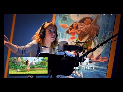 Moana: 'How Far I'll Go' BEHIND THE MIC: 14 Languages Studio Version [HD]