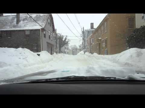 Winter Weather - Driving Down Washington St in Marblehead, MA MVI 6820