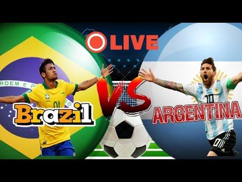 🔴Brazil Vs Argentina Live Football Ma