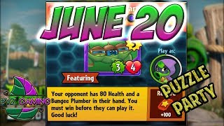 PvZ Heroes: Daily Challenge 06/20/2018 (June 20) – Puzzle Party [June 20 th]