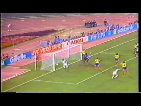 Romênia 1x1 Argentina Copa 1990 Rede Manchete