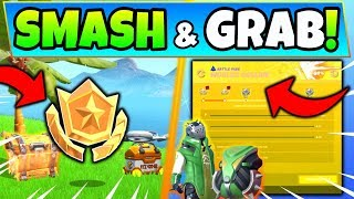Fortnite SMASH & GRAB CHALLENGE GUIDE SEASON 10! - Secret Star (Fortnite Missions)