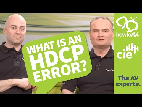 What is an HDCP error?
