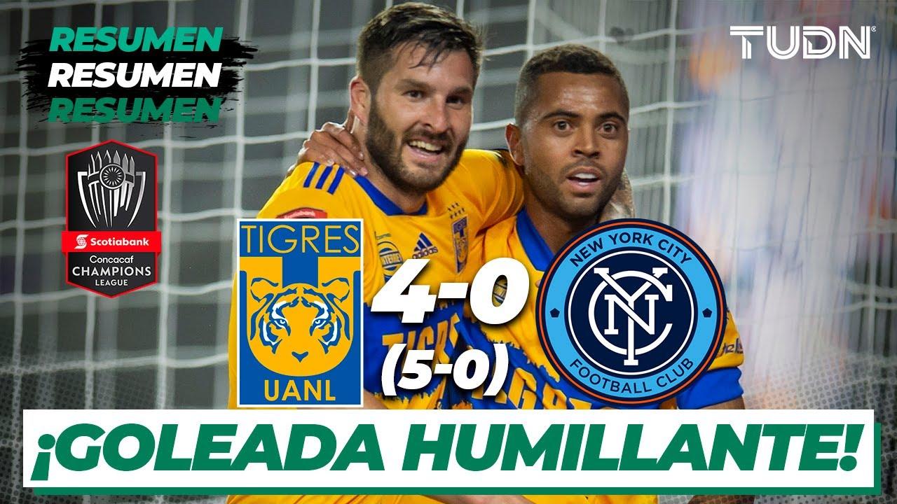 Resumen y goles   Tigres 4(5)-(0)0 New york City   CONCACAF Champions - 4tos   TUDN - TUDN USA
