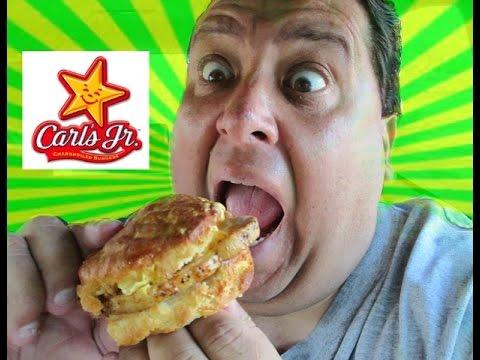 Carl's Jr.® Grilled Pork Chop Biscuit REVIEW!