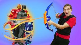 Бэтмен и Человек Паук в видео онлайн - Экзамен на Супергероя! - Смешные видео игры для мальчиков.
