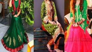 Green And Red Combination Suit Desine||Stylish Party wear Dresses.