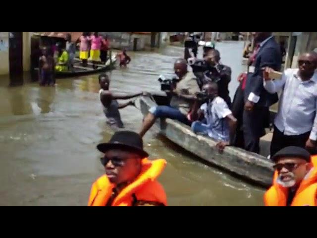 Osinbajo, Obiano On Boat In Anambra State