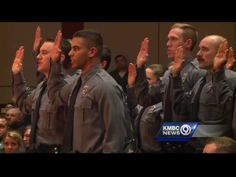 The Kansas City Police Department welcomes new officers to the force