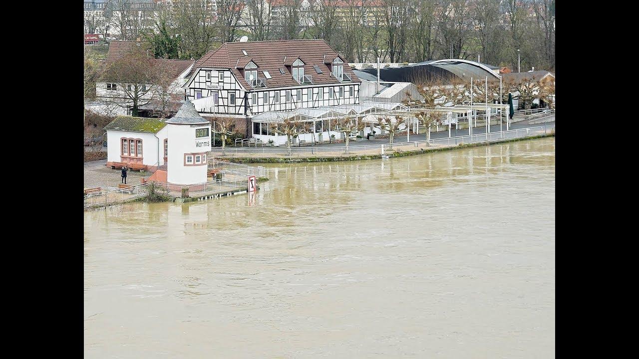 Hochwasser in Worms und Umgebung - YouTube