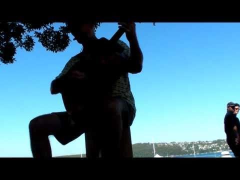 all acoustic: Guitar, Rockbox cajon foot pedal and blues harp (Lee Oscar)