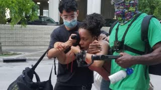Fort Lauderdale police launch gas, rubber bullets at peaceful protesters