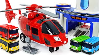 Tayo Rescue Helicopter Air Go! Help Tayo friends! | PinkyPopTOY