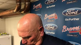 Snitker on wild 8th inning and Braves' 14-10 loss