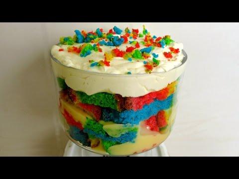 MINI RAINBOW TRIFLE RECIPE