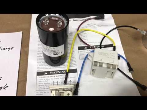 hvac capacitor hook up