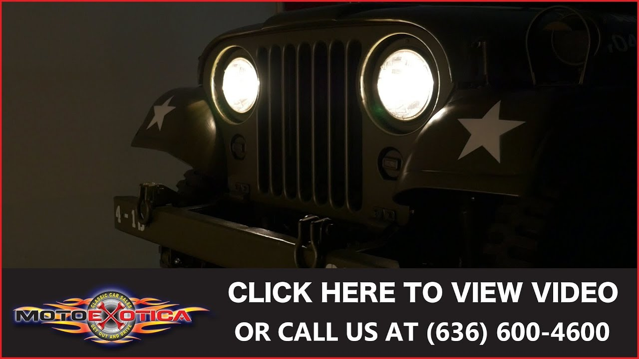 medium resolution of 1953 jeep m38a1 sold