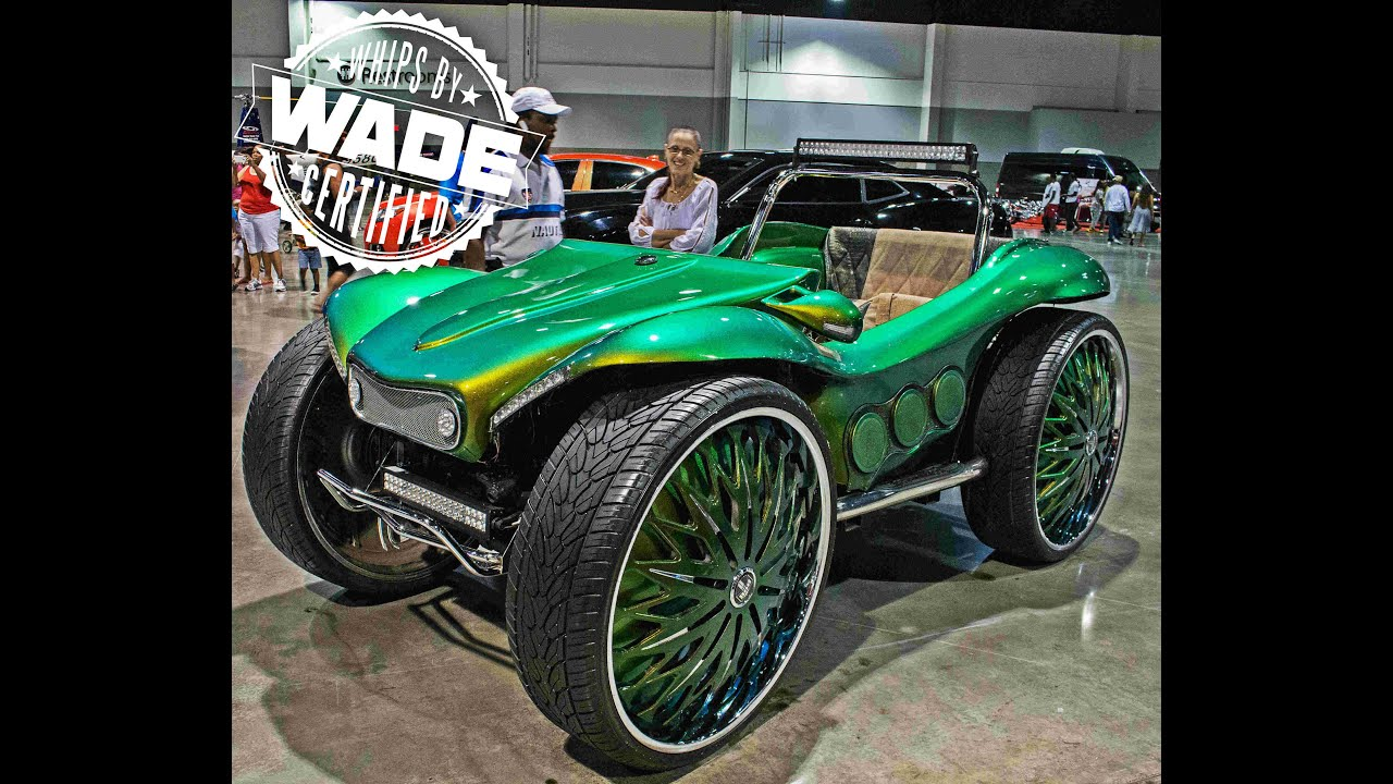 Outrageous Dune Buggy On 32 Spinning Wheels