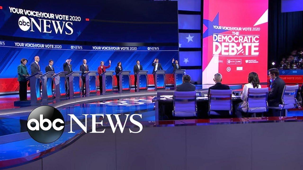 Klobuchar uses the Democratic debate to show she's the Warren-stopper
